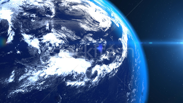 Planet earth from the space closeup Stock photo © klss