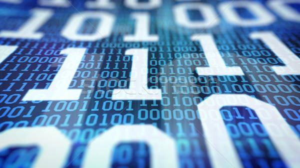 Código binário campos azul internet luz Foto stock © klss