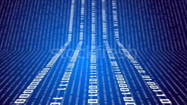 Ikili kod soyut teknoloji mavi sığ Internet Stok fotoğraf © klss
