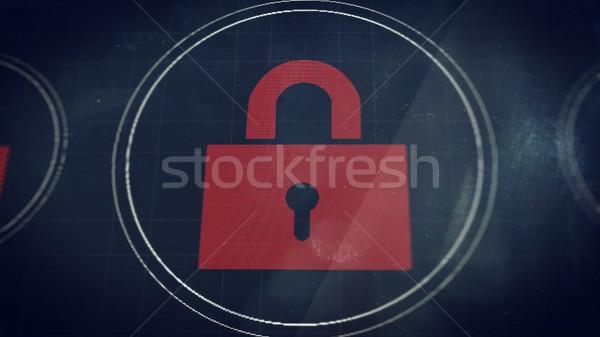 заблокированный экране иллюстрация блокировка телефон аннотация Сток-фото © klss