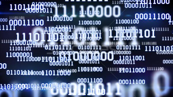 Absztrakt bináris kód képernyő asztal kék számítógép Stock fotó © klss