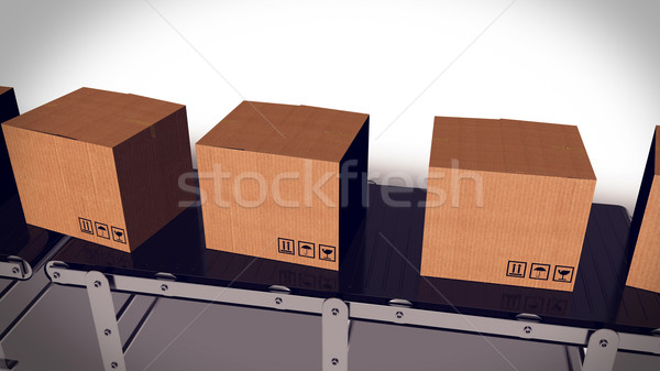 Packages sorted on conveyor belt. Stock photo © klss