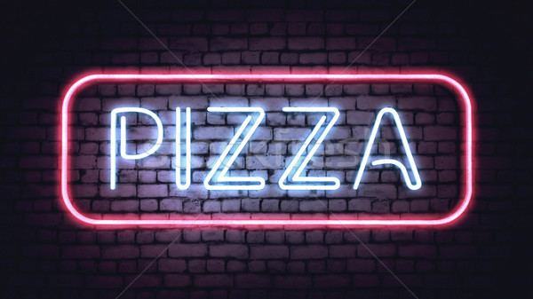 Neon PIZZA sign Stock photo © klss