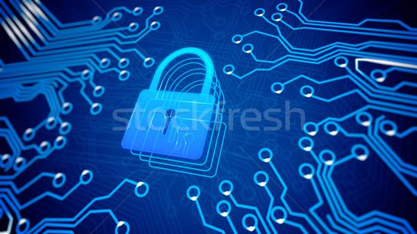 Filmfelvétel anya tábla zár internet technológia Stock fotó © klss