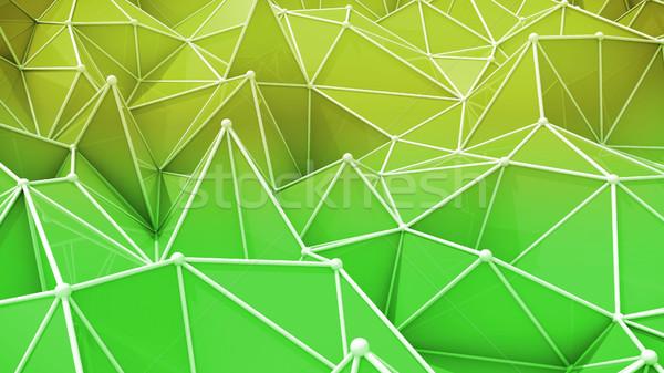 аннотация геометрический красочный желтый зеленый Сток-фото © klss