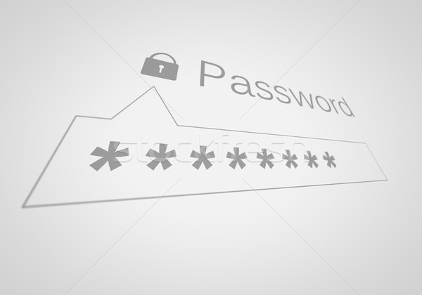 Password Box in Shallow Depth of Field. Stock photo © klss