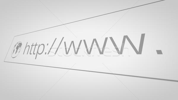 Bildschirm Anschrift bar Bildschirm Web Stock foto © klss
