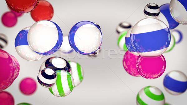 Abstract colore strisce sfere aria bianco Foto d'archivio © klss