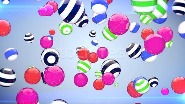 Colorful flying balls in the space  Stock photo © klss
