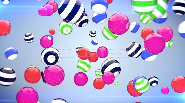 Kleurrijk vliegen ruimte veelkleurig gestreept Stockfoto © klss