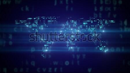 Мир карта двоичный код интернет Мир технологий Сток-фото © klss