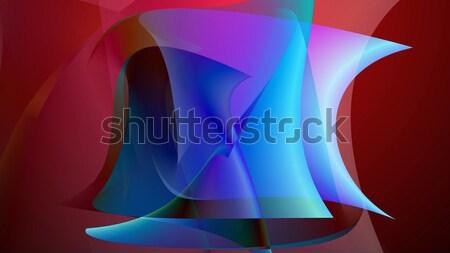 Abstrato arte colorido formas ilustração 3d Foto stock © klss
