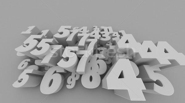 Nombre 3D lumière éducation signe Photo stock © klss