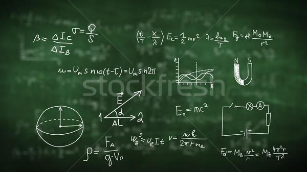 химического студент фон знак классе Сток-фото © klss