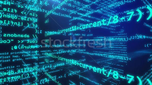 Abstract technologie 3D digitale technologie display Stockfoto © klss