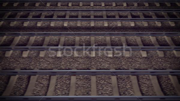Chemin de fer extérieur paysage 3D Photo stock © klss