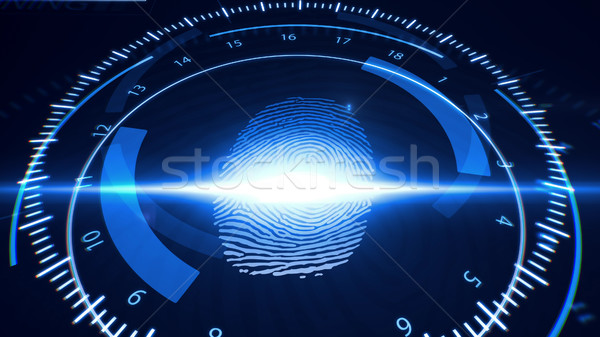 Abstract Fingerprint Scanning.Technology Concept.  Stock photo © klss