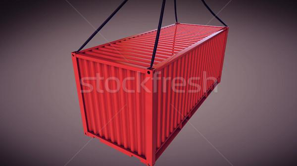container hoisted by a crane Stock photo © klss