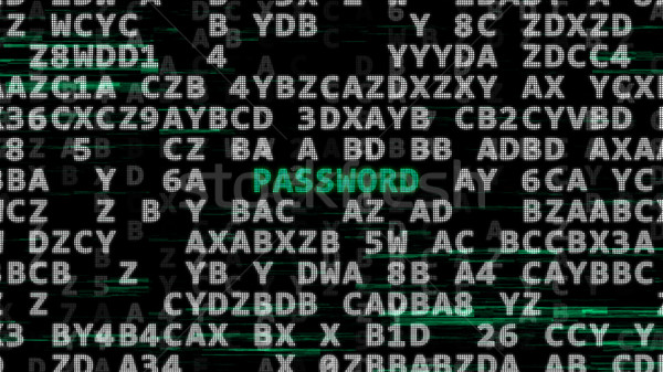 Sécurité technologie vert mot mot de passe centre Photo stock © klss