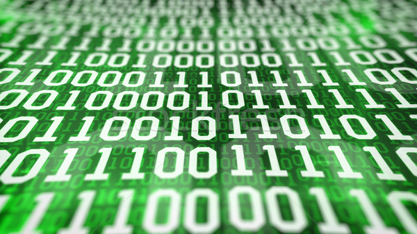 binary code screen. Closeup. Stock photo © klss