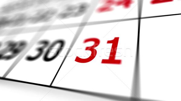 Kalendarza strona czerwony data płytki działalności Zdjęcia stock © klss