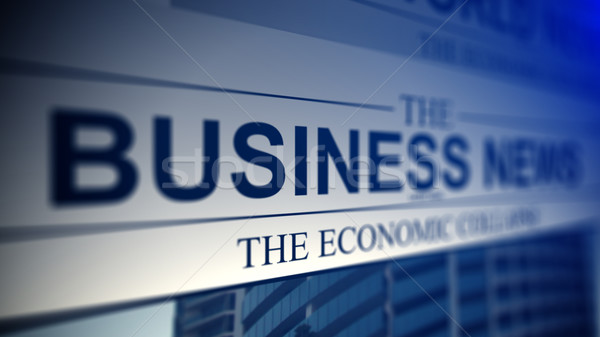 Newspaper with business news titles. Stock photo © klss