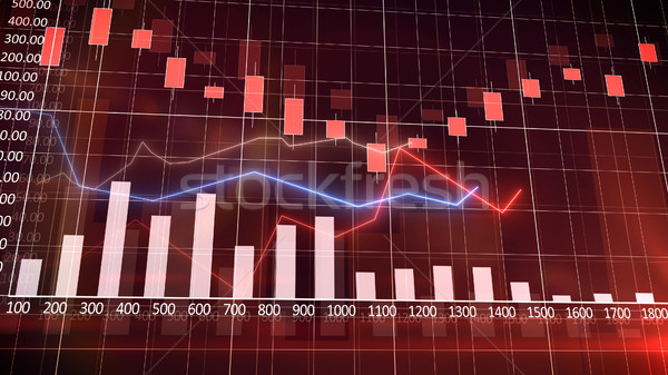 économique graphique graphique à barres affaires argent fond Photo stock © klss