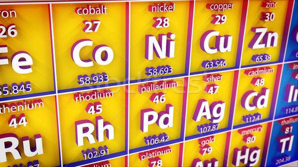 3D element wetenschap groep leven Stockfoto © klss