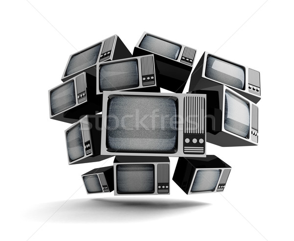 Retro TV with static. Stock photo © klss