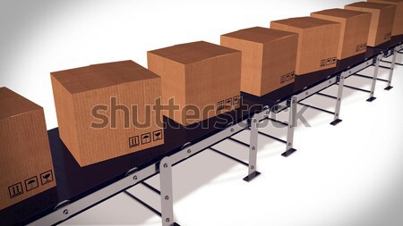 Automated shipment in a warehouse. Stock photo © klss