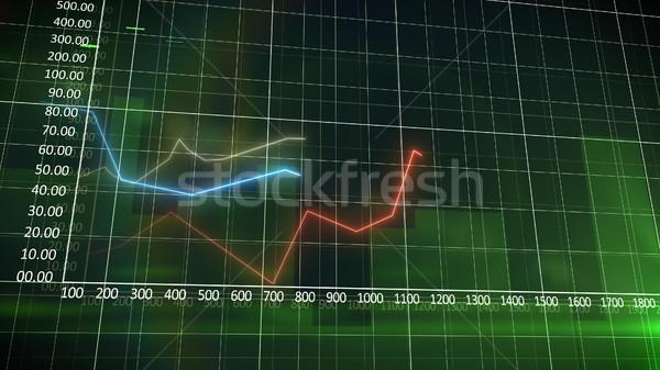 бизнеса диаграммы зеленый стены красный кривая Сток-фото © klss