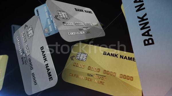 кредитные карты цвета воздуха черный 3D Сток-фото © klss