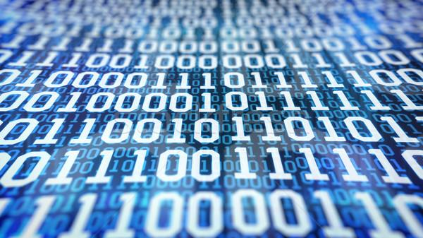 Ikili kod mavi bilgisayar arka plan tablo Stok fotoğraf © klss