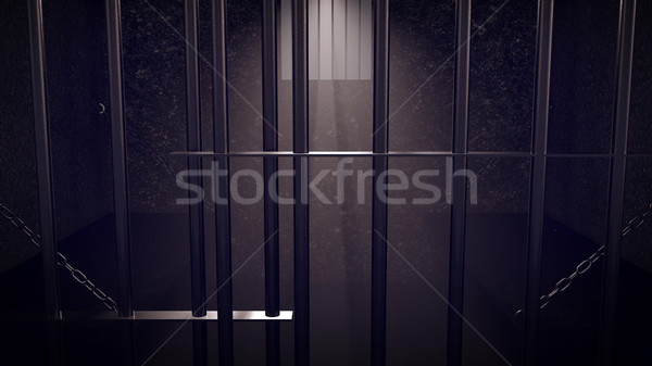 3D Render of locked prison cell for two persons.  Stock photo © klss