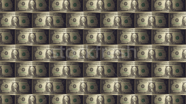 Een dollar Bill patroon business 3D Stockfoto © klss