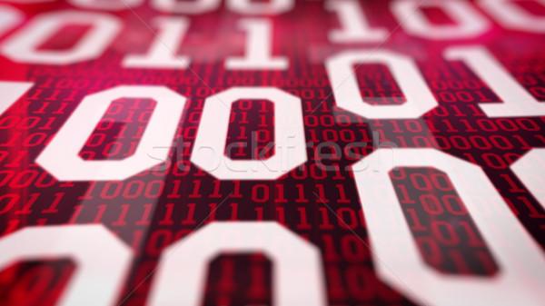двоичный код полях красный интернет свет Сток-фото © klss