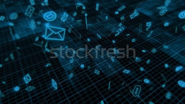 インターネット 技術 3D レンダリング 暗い ストックフォト © klss