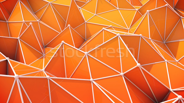 Abstract bollen oranje verschillend desktop Stockfoto © klss