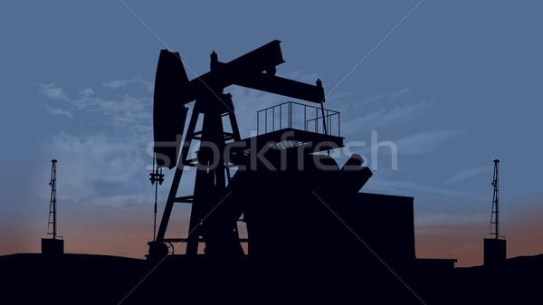 Oil pump oil rig energy Stock photo © klss