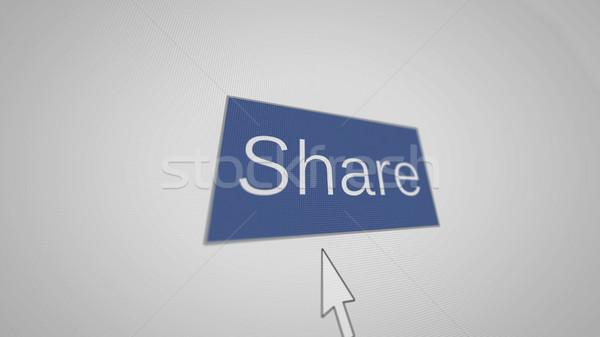 Main curseur illustration bleu bouton souris Photo stock © klss