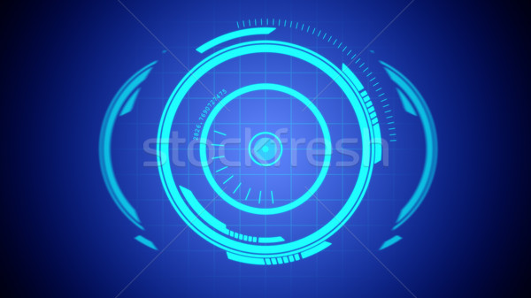 将来 ホログラム 要素 実例 眼 抽象的な ストックフォト © klss