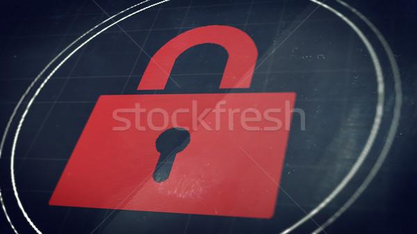 ロック 画面 クローズアップ 実例 セキュリティ コンピュータ ストックフォト © klss