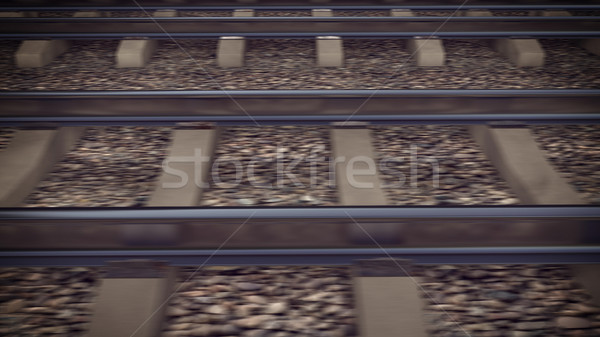 The railways for a train Stock photo © klss