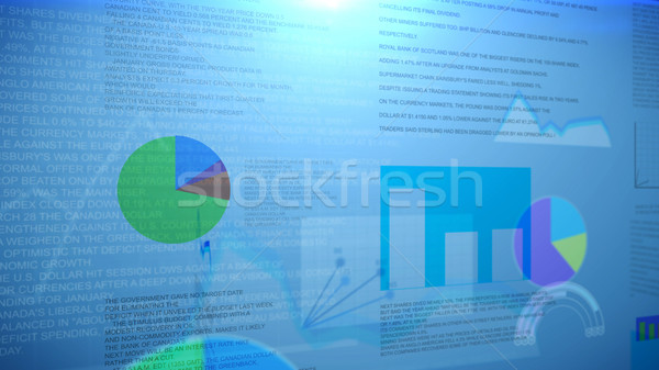 аннотация бизнеса гистограмма синий фон Сток-фото © klss