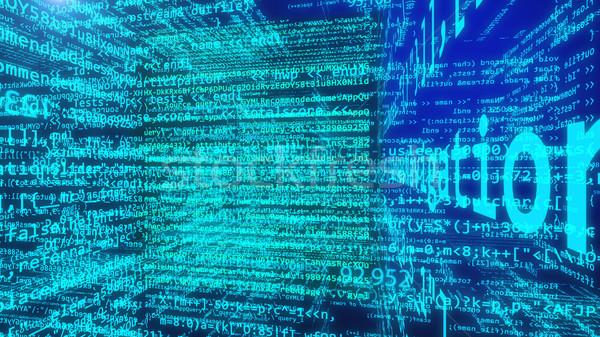 データ コード デジタル技術 3次元の図 プログラミング ビジネス ストックフォト © klss