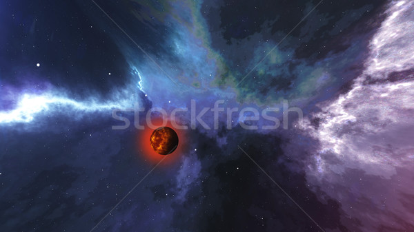 Abstract Galaxy 3D schepping planeet Stockfoto © klss