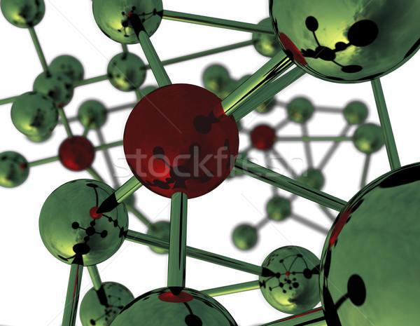 Abstract moleculair structuur moleculen 3D Stockfoto © klss