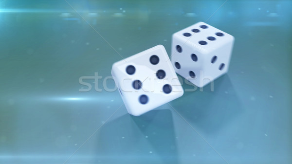 dices closeup with a green background Stock photo © klss