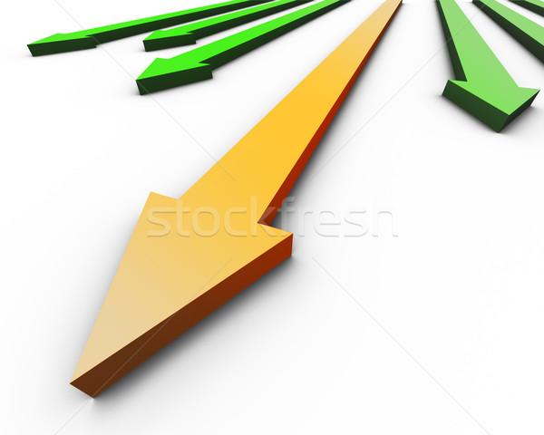 Стрелки движения направлении успех изолированный 3D Сток-фото © klss