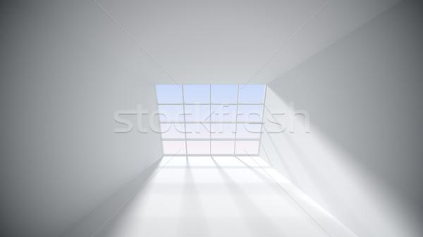 Soyut beyaz oda pencere ev ahşap Stok fotoğraf © klss